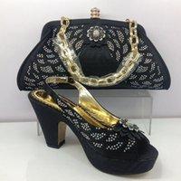 Black color high quality handwork rhinestone shoes free ship...