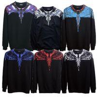 Marcelo Burlon Colorful Wings Print Sweatshirts Men Women Hi...