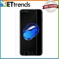 Protecteur d'écran pour iPhone 7 7 plus 6 6S 0.26mm Film de protection anti-déflagrant de protection d'écran de luxe avec le paquet DHL Free