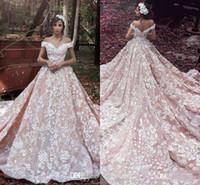 Мода Саид Mhamad Blush Pink Кружева Свадебные платья плеча втулки крышки Линия Backless Свадебные платья Формальные Женщины Свадебные платья 2017 года