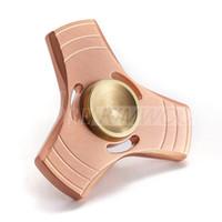 2017 Nouveau Fidget Spinner HandSpinner main Spinner Finger EDC jouets pour l'anxiété de décompression en acier inoxydable en métal 100% Pure Toys Copper