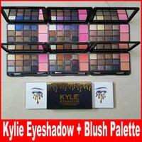 12 цвет kyshadow + 2 цвета румяна палитра Дженнер Новейший Kyshadow палитра теней для макияжа тени для век свободная перевозка груза