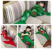 Дети Mermaid Одеяло Рождество Санта-Клаус Elk Одеяло Русалка спальный мешок Одеяло Диван Одеяло Постельные принадлежности Wrap 140 * 70см KKA970