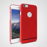 Для Apple Red iphone 7 7 плюс 6S плюс Ультратонкий дышащий матовый жесткий корпус сотового телефона