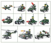 Military city Series building blocks Helicopter Tank Buildin...