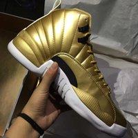 "Retro 12 Pinnacle "" Gold"" For Men Basketball Sport ..."