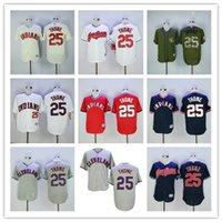 Jim Thome Jersey #25 Cleveland Indians Flexbase Coolbase Thr...