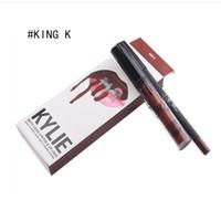 En stock Kylie Jenner Líquido labial Lipgloss Matte Labios Liner Brillo Labial Kit Labios Cosméticos Labios Maquillaje Mensajes