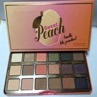 NOUVEAU Peach doux 18 couleurs ombre à paupières maquillage Ombre à paupières palette avec odeur de pêches DHL livraison gratuite