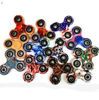 HandSpinner EDC Fidget Spinner Camuflagem bandeira americana leopardo crânio glaxy Foco Stress Descompressão Ansiedade Brinquedos tri spinner KKA1430