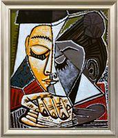 Tete d ипе Femme Lisant Пабло Пикассо, Pure Ручная роспись Абстрактная живопись маслом картины, по размеру холсте высокого качества Home Decor можно подгонять