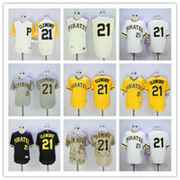 Roberto Clemente Jersey Pittsburgh Pirates #21 Flexbase Cool...
