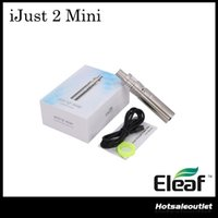 Authentique iSmoka Eleaf iJust 2 Mini Kit 2ml Capacité ijust 2 Mini Atomizer 1100mAh Capacity Battery Kit 100% Liquidation d'origine