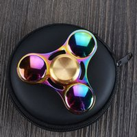Nouveau style Rainbow Handspinner 608 Roulement à billes Tri spinner Relieve Stress fidget spinner toy fast shipping