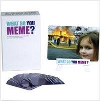 Qu'est-ce que vous Meme Un jeu de cartes millénaire pour les Millennials et leurs amitiés Millennial Jeux de fête KTV Jeux de cartes à collectionner CCA5779 100pcs