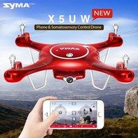 Drôme Syma X5UW de haute qualité avec caméra WiFi HD 720P Transmission en temps réel FPV Quadcopter 2.4G 4CH RC Hélicoptère Drone Quadrocopter