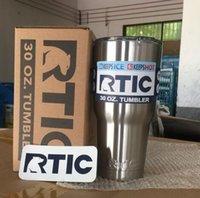 RTIC 30 oz Tumbler Cup Drinks Tasse de voyage en acier inoxydable Tumbler avec couvercle double paroi Bilayer Vacuum Cup