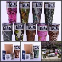 9 цветов Камуфляж 30oz Camo YETI Рамблер тумблер путешествия пивные чашки из нержавеющей стали 30 унций Yeti Чашки изоляции кружкой кофе DHL голодает корабль