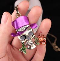 Free shipping creative jewelry 2017 new Halloween skull pers...