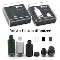 Authentic Yocan Cerum Atomizer Vaporisateur de cire en céramique complète Quartz de rechange QDC Dual Coil Fit 1100mAh Yocan Evolve Plus vs Yocan NYX Atomizer