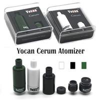 Аутентичные Yocan Cerum Форсунка Полный керамический Воск Vaporizer Запасной Кварцевый двойной ППЭС катушки Fit 1100mAh Yocan Evolve Plus против Yocan NYX Атомайзер