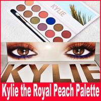 Новые Кайли косметику Дженнер Royal Персик Palette Brand New 12 цветов палитры Eyeshadow Свободная перевозка груза