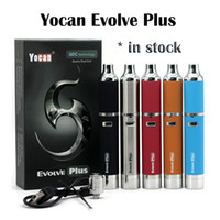 Kit Yocan Evolve Plus authentique 1100mAh Evolve Vaporisateur Dry Wax Vaporizer Pen Kit Yocan Evolve D QuartzDual Coil E Cigarettes En stock