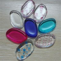 Clear silicone cosmetic puff powder puff makeup Sponge found...