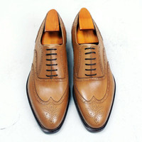 Men Dress shoes Oxford shoes Round toe Men' s shoes Cust...