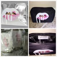на складе Дженнер Макияж сумка День рождения / праздник коллекция косметичку Кайли Lip Kit сумка высокого качества Бесплатная доставка
