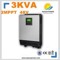 Горячее надувательство солнечного инвертора 3Kva 2400W солнечного инвертора 48V к инверторам 220V 40A 2 MPPT Чисто инвертор синуса инвертора 60A AC