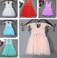 Summer Girls Dress Tulle Flower Kids Clothes Infantil Tutu V...