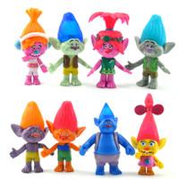 8шт / Set Тролли Фигурки Детские подарки игрушки куклы Minifigures игрушки 11см Мак Отделение Мультфильм Действие фигур KKA1070