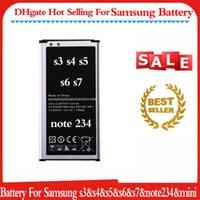 100% neufs Batterie de remplacement pour samsung s3 s4 s5 s6 s7 note 2 3 4 Mini Built-in de haute qualité Li-ion Batteries