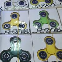 HandSpinner Fingertips Спиральные пальцы Fidget Spinner EDC Hand Spinner Акриловые пластиковые игрушки Fidgets Toys Gyro Toys With Retail Box