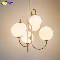 Art Bubble Pendant Light Brief Ameican Living Room Gold Meta...