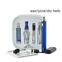 4 en 1 kits de démarrage avec cire MT3 Dry Vaporisateur d'herbe Tank Quartz bobine Evod batterie 1100mah Multi Vape Pen E cigarette