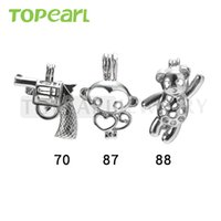 WG50 Bijoux Teboer 20pcs Vente en gros de pendentifs Lockets Mixed Gun et Monkey and Bear Pendentifs Wish Cage