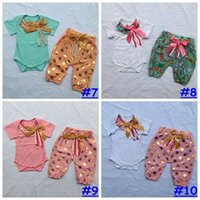 10styles Baby Girl 2pcs outfit romper + pant set polka dot fl...
