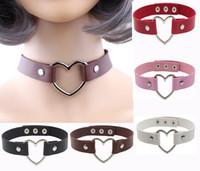 Fashion jewelry Harajuku soft sister black PU leather neck c...