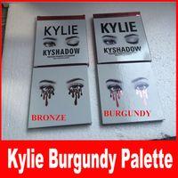 В наличии Комплект теней для век Kylie jenner Kyshadow matte Косметическая палитра Бронза / темно-бордовая тень для век 9 цвет / шт.