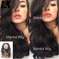 Pre Plucked 360 Lace Frontal Peruvian Body Wave Natural Hair...