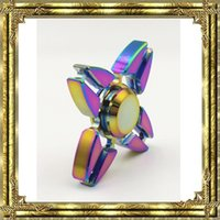 2017 Rainbow Hand Fidget Spinners Aluminium Alloy Mini Crabe Crabe Mains Spinner Rotation Decompression Finger Toy Spinning Top EDC Toys