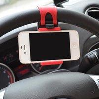 Оптово-держатель телефона для автомобиля рулевого колеса Автомобильный держатель Универсальные крепления для мобильного телефона, GPS, MP3, MP4 мобильный телефон Подставка