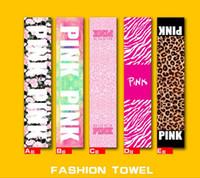 VS Pink Sports Serviettes Beach Bath Towel 22 * 110cm Fitness Running Natation Soft Séchage rapide Serviette de bain OOA1381