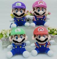 Super Mario Плюшевые игрушки куклы MARIO ЛУИДЖИ плюшевые куклы мягкая игрушка 20 см Плюшевые игрушки Детские игрушки Фаршированные KKA1091