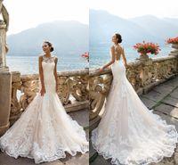 Milla Nova 2017 Stunning Elegant Mermaid Full Lace Wedding D...