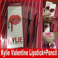 KYLIE JENNER Comestics LIP KIT Kylie Lip VALENTINE HEAD HEVERS HEELS Жидкая матовая губная помада Макияж Блеск для губ Макияж