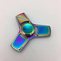 New Colorful Rainbow Luxury Fidget Tri Spinner HandSpinner H...