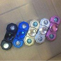 5 cores de liga de alumínio LED mão luminosa dedos girador espiral dedos Gyro Torqbar Fidget Spinner brinquedos de descompressão CCA5816 100pcs